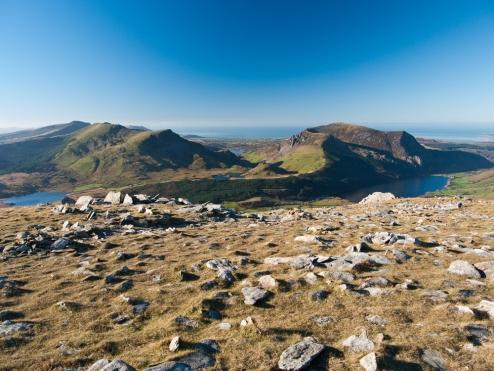The Nantlle Ridge & Mynydd Mawr from the Rhyd Ddu path