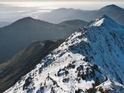 Bwlch Main - Snowdon's narrow south ridge