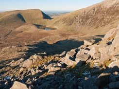 View to Llyn Ffynnon-y-gwas from the north end of Llechog