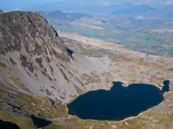 Llyn y Gadair from the summit