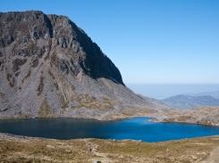Llyn y Gadair below Cyfrwy
