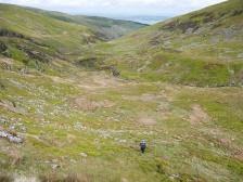 Initial grassy climb to Bera Mawr