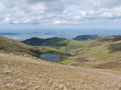 Foel Ganol ridge beyond Llyn Anafon