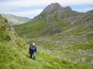 Exploring upper Cwm Bochlwyd