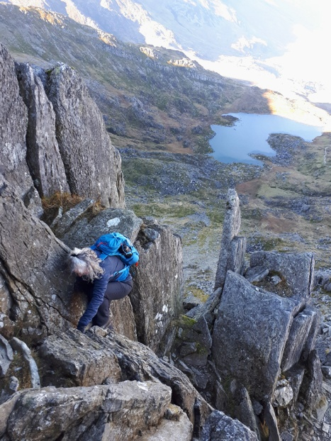 Scrambling on Bristly Ridge