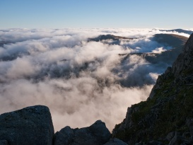 Cloud inversion east of Tryfan