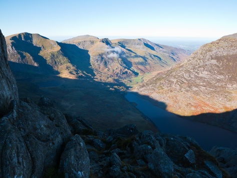 Ogwen valley now free of cloud